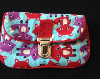 "Mini pouch / tote bag ""Foxes"""