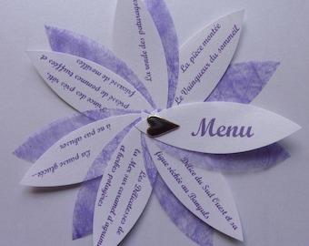 Set of 120 menus individual blue and white