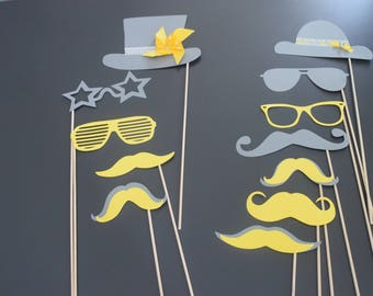 wedding glasses for wedding, birthday hat, mustache photobooth props, party