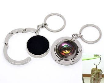 great Keyring key/grip bag, glass cabochon 30 mm, craft, camera, photographer