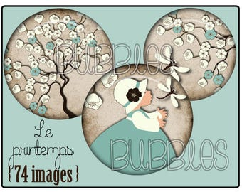 Digital collage sheets - Little Girl Printable Images for Jewelry Making
