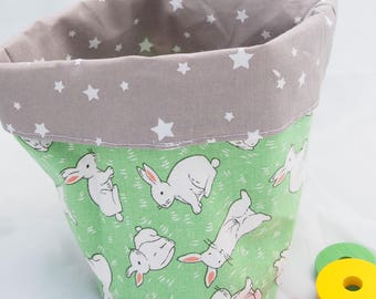 """Basket / tidy """"My all"""" stars and rabbits"""