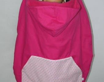 Blanket cape universal carrying pink and small polka dots