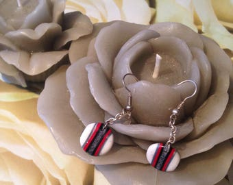 "Polymer clay ""broken circle"" earrings"