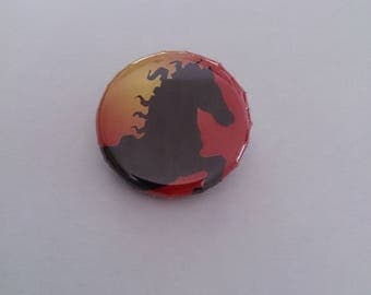 Badge special horse Chinese new year 30 mm