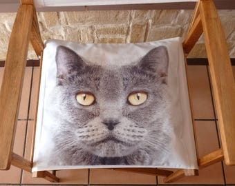 Cat, square cotton Cushion cover