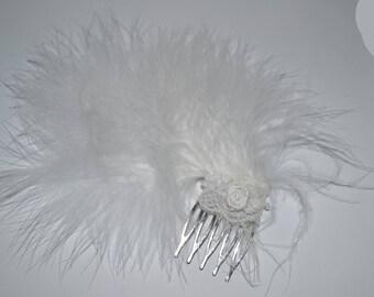 Feather wedding comb