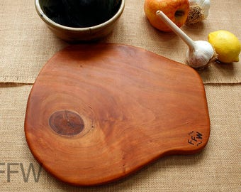 Knotted Black Cherry Cutting/Serving/Cheese Board