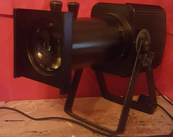 Large Vintage Theatre Light - Converted into Lamp