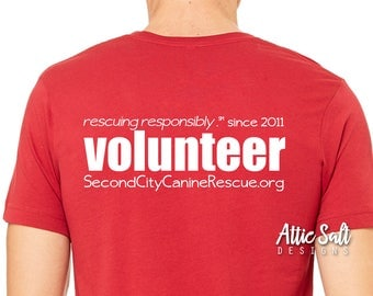 Add VOLUNTEER to the back of any shirt!