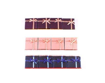 Set of 12 boxes gift boxes for inner rings black. Dimensions: 4x4x2.5cm.