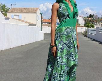 Ethnic African empire waist Maxi-dress