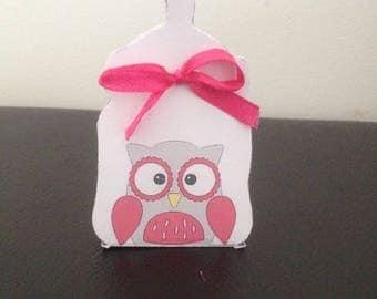OWL bottle favors boxes