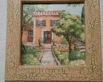 "Chalkboard ""Provençal House"" xxxxxx xxxxxx xxxxxx"