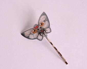 Black Butterfly hair clip