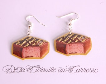 Chocolate filled Strawberry earrings