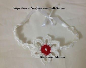 Headband crochet flower garden
