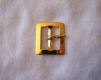 Belt buckle, brass, 22 x 19 mm