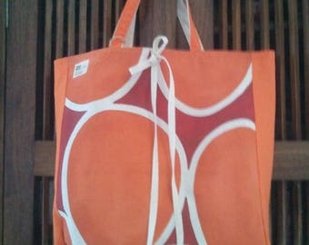 Colorful cotton foldable tote bag