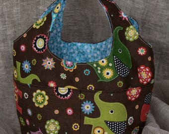 Cotton print for little girls bag