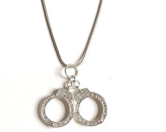 Necklace 50 shades of Grey handcuff rhinestones