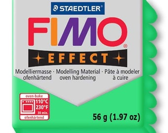 Green translucent effect Fimo