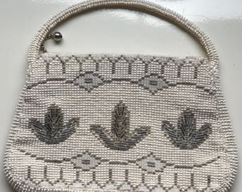 Beaded Evening Handbag Vintage/ Czechoslovakia Beaded Bag