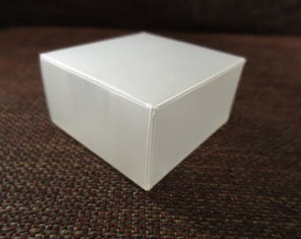 Box transparent rectangular for sweets