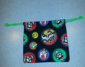 Super Mario Brothers drawstring pouch