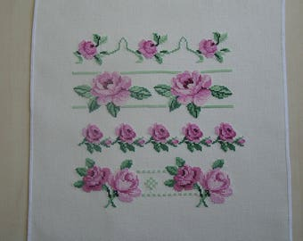 Strips of roses cross stitch Embroidery