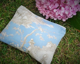 """Sparrow"" cotton lined and padded pouch"