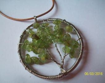 tree of life pendant green Crystal