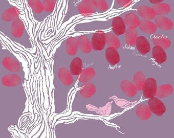 Fingerprint wedding tree / 24x32cm / 40-50 signatures