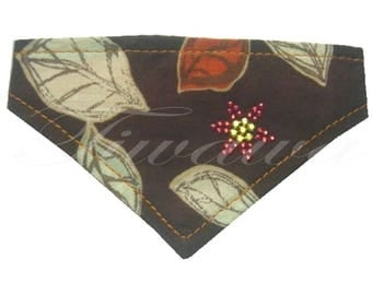"""Leaves"" for small dog and cat bandana"