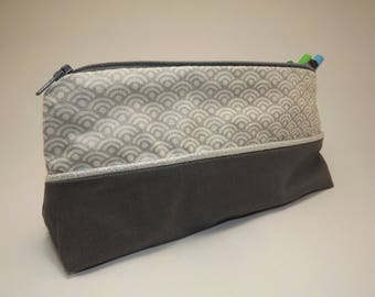 make up bag, pouch.