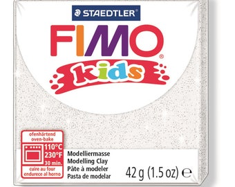 Polymer clay Kids 42 g - white Paillete N 52 - Ref 68030052 - while quantities last!