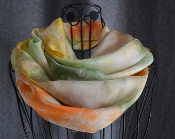 Scarf silk ponge 9 - roulote hand shade 2