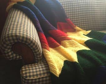 Rainbow Chevron Blanket