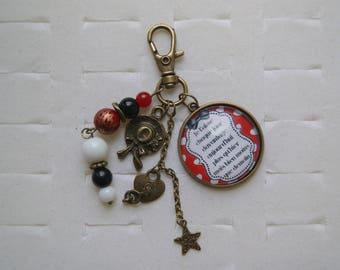 Love letter bag cabochon charm