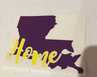 Louisiana Home Decal
