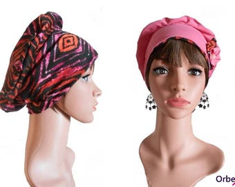 """Chemo REVERSIBLE beret """"Clarisse"""" & its removable fabric flower"""