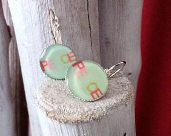 Frost earrings peace earrings
