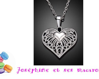 1 silver 3x2.5 cm heart pendant