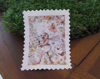 Image transfer, to sew, girl, Elf, flowers