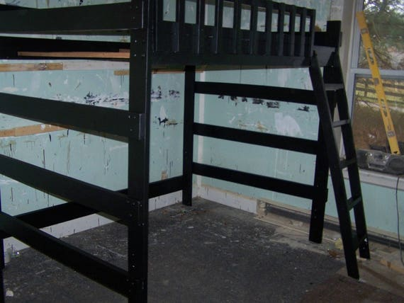 heavy duty full size loft bed 60 inches tall. Black Bedroom Furniture Sets. Home Design Ideas