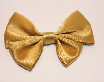 1 40x60mm jewelry scrapbooking gold satin bow