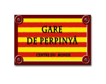Catalan style aluminum street sign