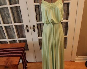 1970's Jersey Knit Maxi Dress