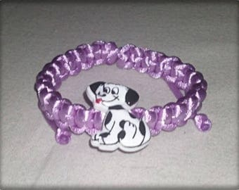 Shamballa bracelet child purple cord