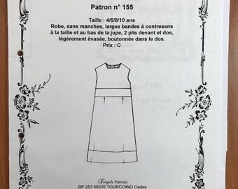 No. 155 Fregoli sewing pattern, sleeveless dress